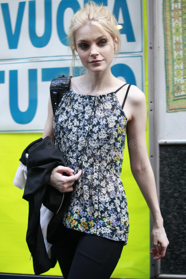 Model Jessica Stam attends the Extreme Beauty In Vogue party stock images