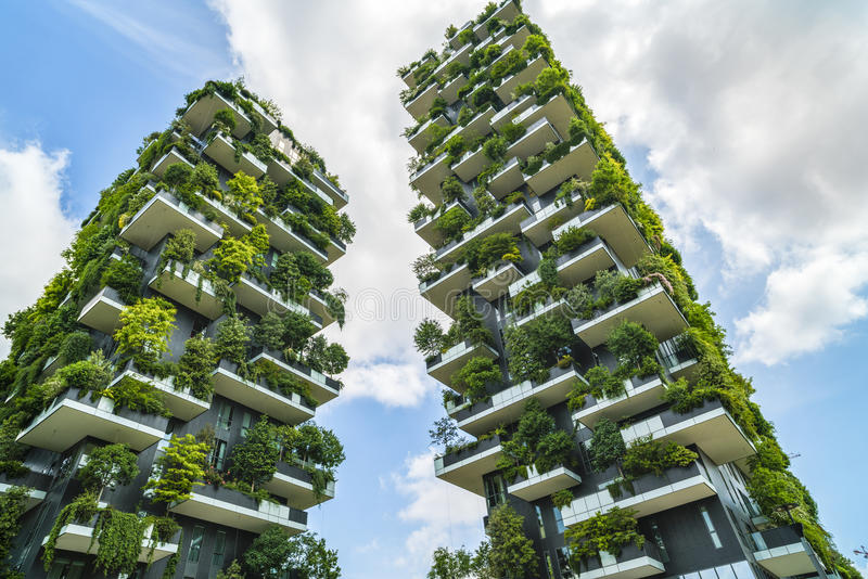 milan italy may 28 2017 bosco verticale vertical forest l editorial photo image of. Black Bedroom Furniture Sets. Home Design Ideas