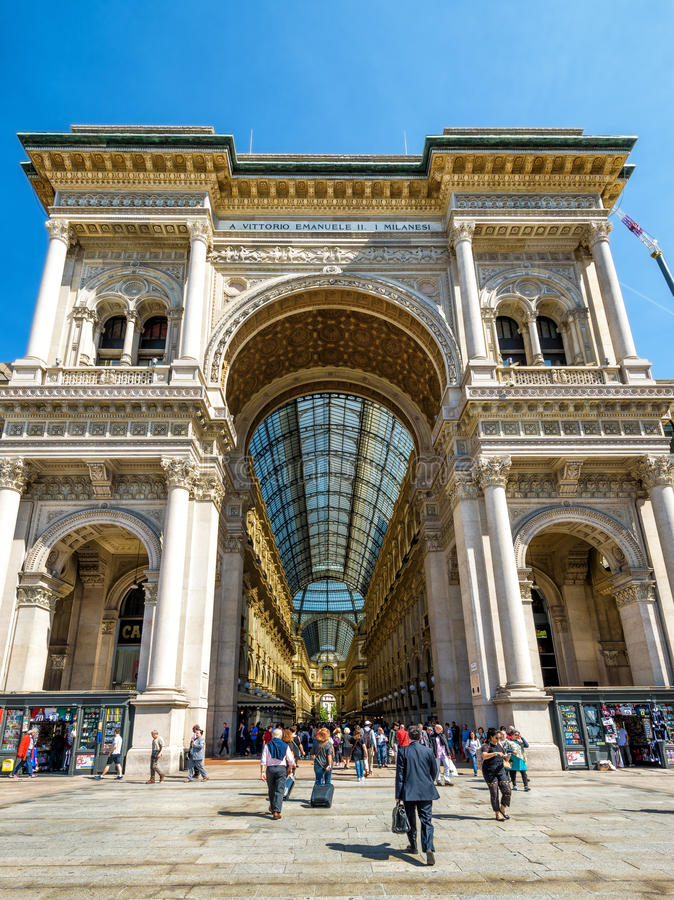 Galleria Vittorio Emanuele II in Milan royalty free stock photo