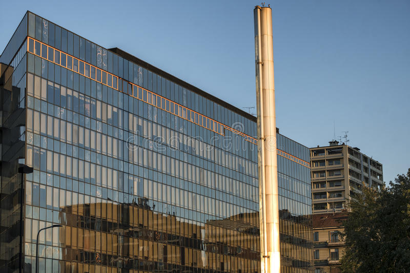 Milan Italy, modernes Gebäude nahe Citylife stockbild