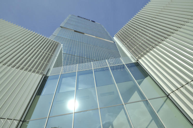 Milan, Italy, new Citylife skyscraper stock image