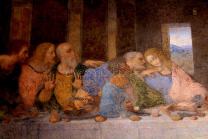 Milan, Italy - November 24, 2017 The Last Supper by Leonardo da Vinci in the refectory of the  Convent of Santa Maria delle Grazie royalty free stock image