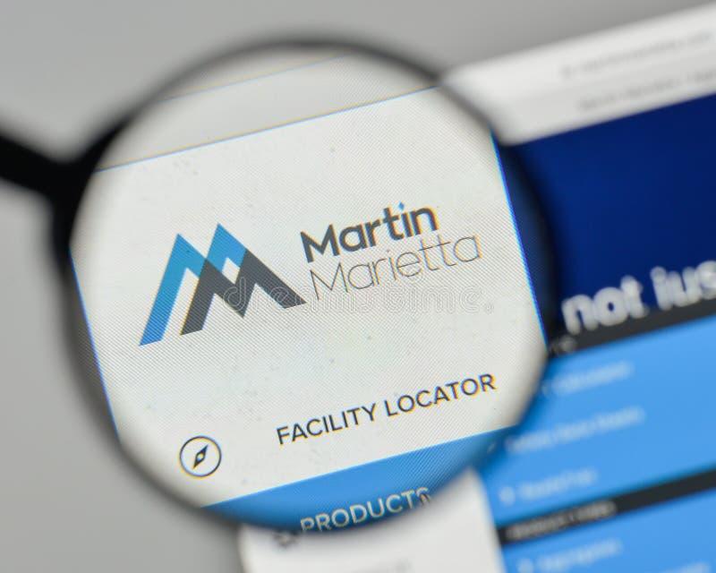 Milan, Italy - November 1, 2017: Martin Marietta Materials logo. On the website homepage royalty free stock photo