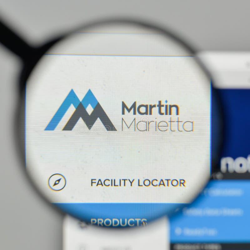 Milan, Italy - November 1, 2017: Martin Marietta Materials logo. On the website homepage stock photos