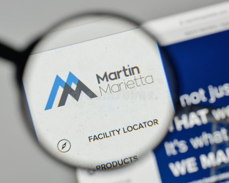 Milan, Italy - November 1, 2017: Martin Marietta Materials logo. On the website homepage royalty free stock photography
