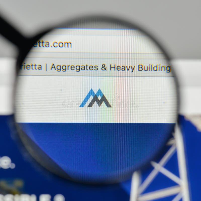 Milan, Italy - November 1, 2017: Martin Marietta Materials logo. On the website homepage stock images