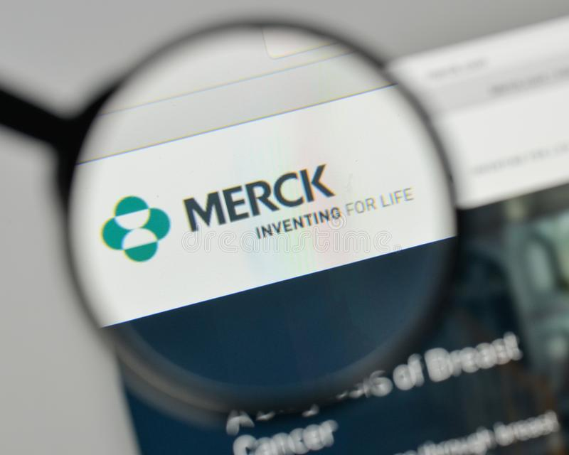 Milan Italy November 1 2017 Merck Co Inc Logo On The Webs