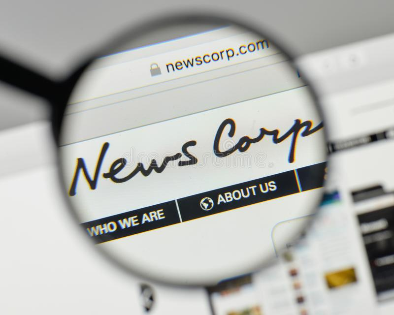 Milan, Italy - November 1, 2017: News Corp. logo on the website. Homepage stock photos