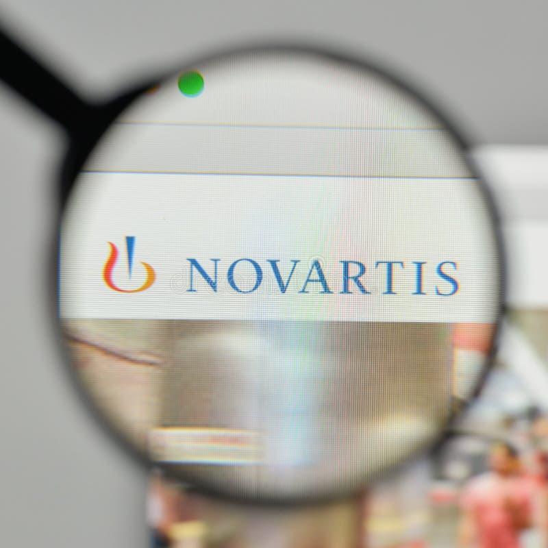 Milan Italy November 1 2017 Novartis Logo On The Website Ho