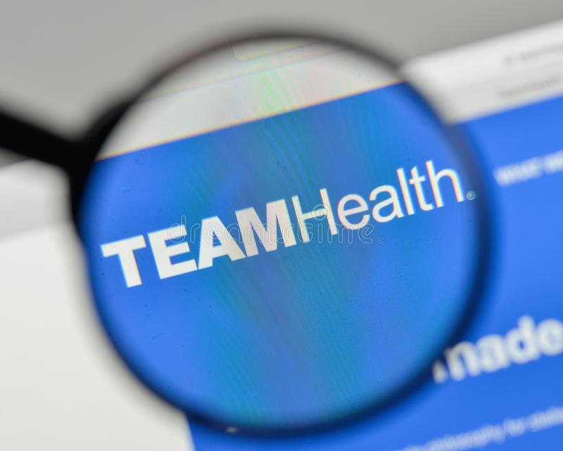 Milan, Italy - November 1, 2017: Team Health Holdings logo on th. E website homepage stock images