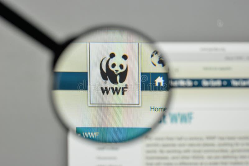 Milan, Italy - November 1, 2017: wwf logo on the website homepage. royalty free stock photos