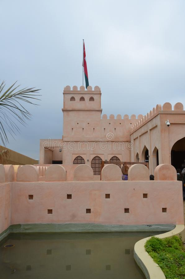 Milan, Italy - 10.04.2015: Oman pavillon. Milan, Italy - Oman pavillon in Expo stock images