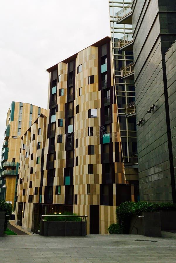 Milan Italy, radical 60, apartamentos de lujo retros de s imagen de archivo