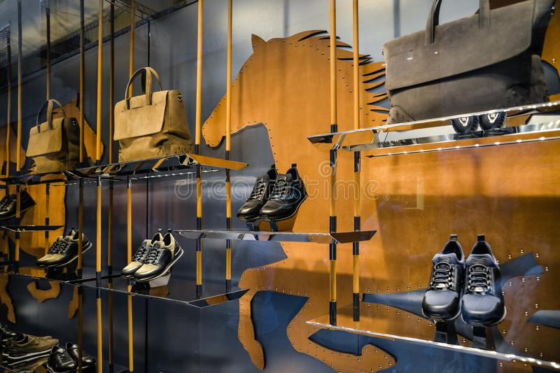 Milan, Italy - September 24, 2017: Tod's store in Milan. Fashio royalty free stock photo