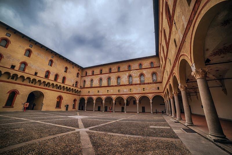 Milan, Italy: Sforza Castle, Castello Sforzesco stock photos