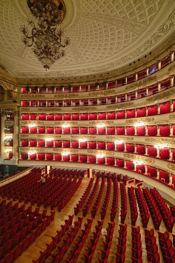 Milan Italy Teatro alla Scala royaltyfri foto