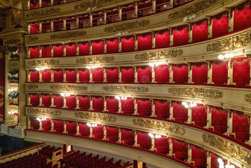 Milan Italy Teatro alla Scala arkivbilder