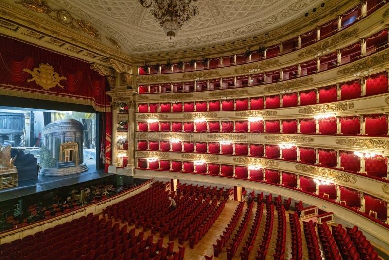 Milan Italy Teatro alla Scala stock illustrationer