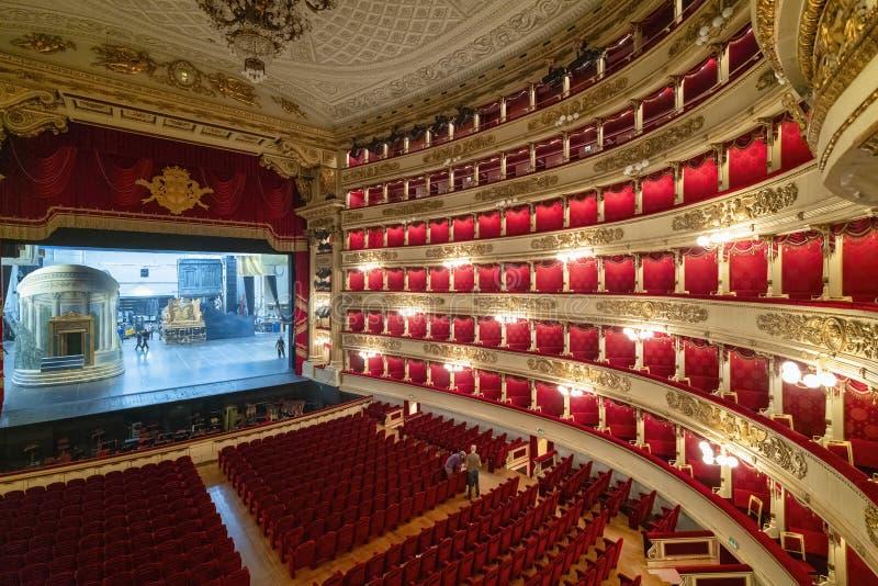 Milan Italy. Teatro alla Scala Opera House royalty free stock photo