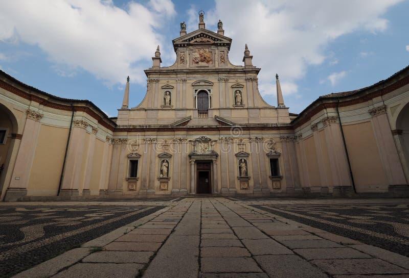 Church named Certosa di Garegnano. Milan Lombardy, Italy: the historic church named Certosa di Garegnano stock image