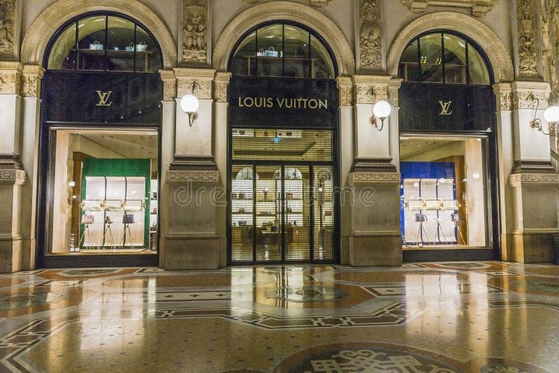 Milan Luxuous shopping mall royalty free stock photos