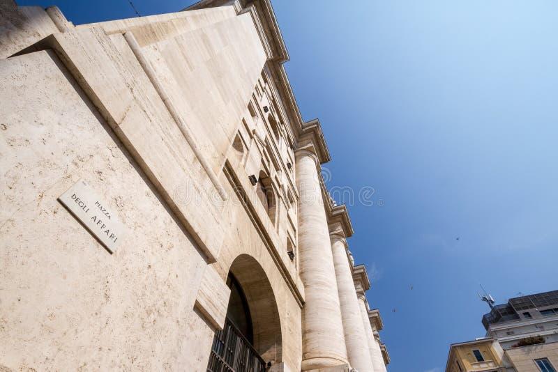 Italian Stock Exchange Borsa Italiana in Milan, Italy stock images