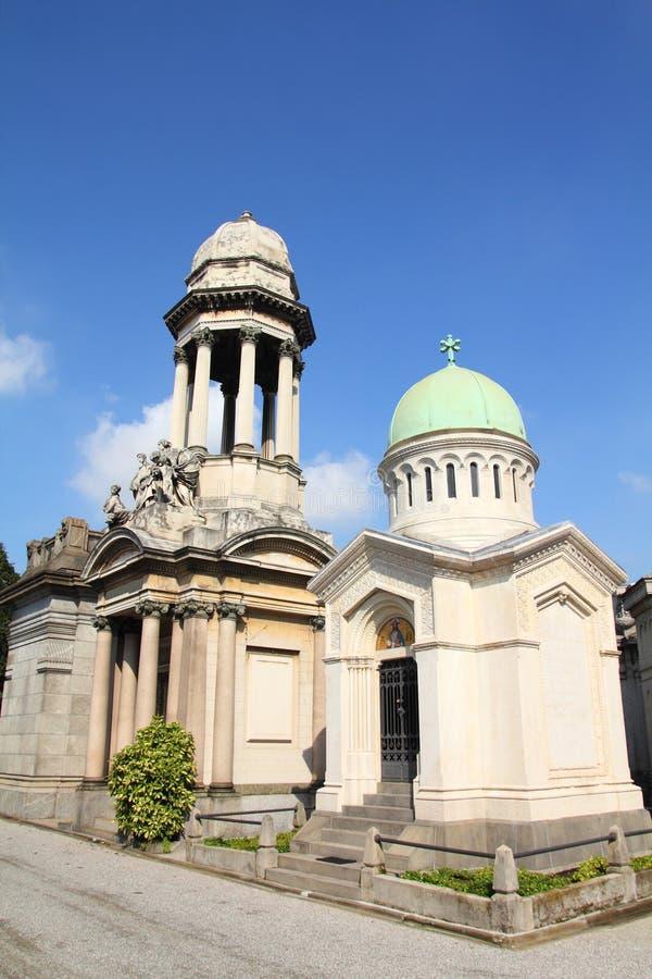 Milan - Monumental Cemetery Royalty Free Stock Photo