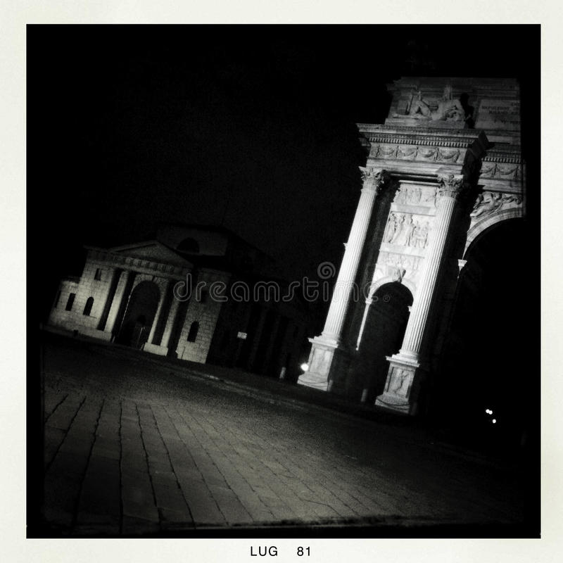 Download Milan by night - mobile stock image. Image of landmark - 27823643