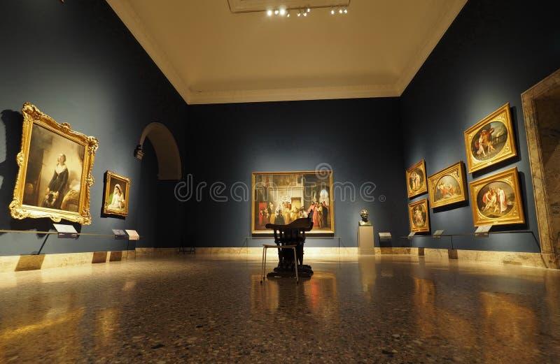 Milan 12 Oktober 2018: Francesco Hayez expo royaltyfri bild
