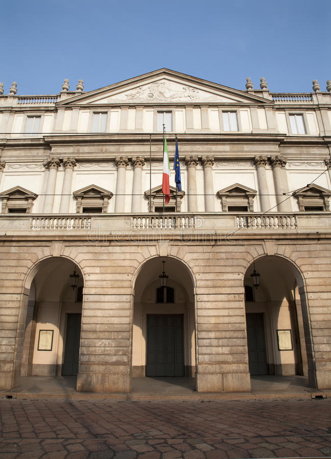 Download Milan - opera La Scala stock image. Image of theater - 21313297