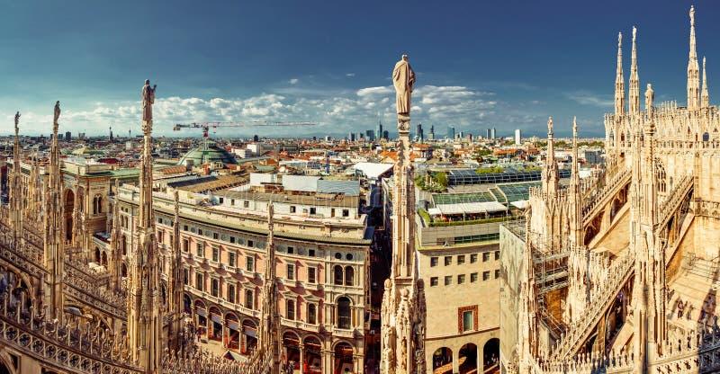 Milan Panorama - norrsida arkivbilder