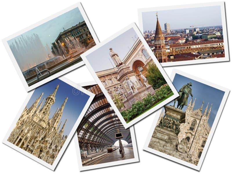 Milan Postcards stock photo