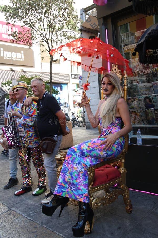 Milan Pride - 30 de junho de 2018 - Lombardia Itália fotos de stock royalty free
