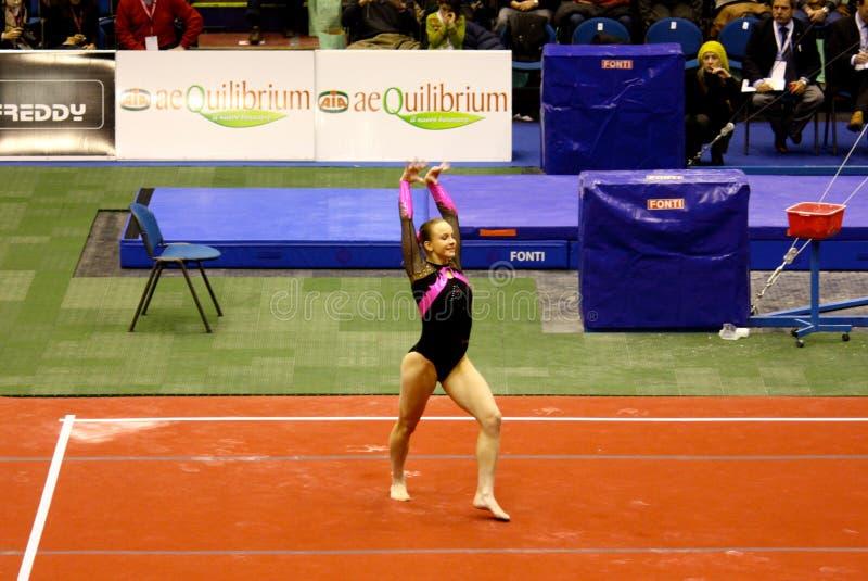 Milan Prix grand gymnastique 2008 photos stock