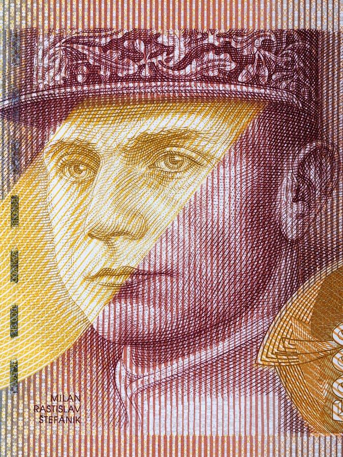 Milan Rastislav Stefanik een portret stock afbeelding