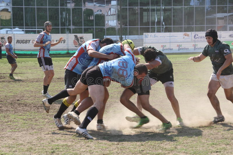 Milan Rugby Festival 2014 stock photos
