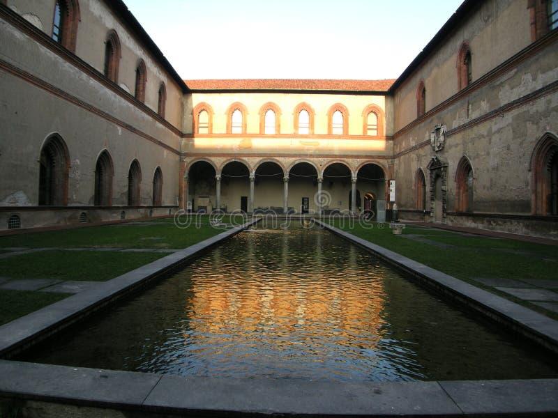 Milan sforzesco castello Włochy zdjęcie stock