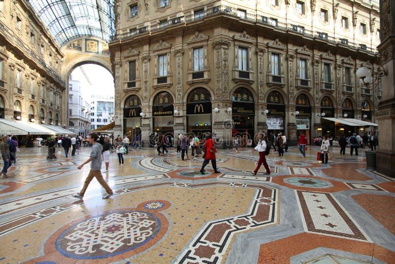 Milan shopping gallery stock images