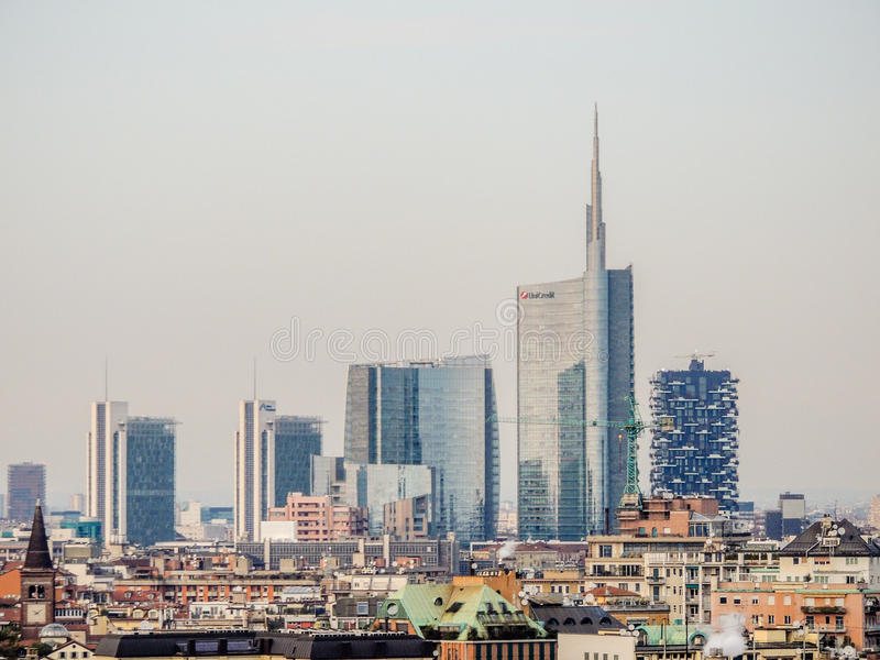 Milan skyline stock photography