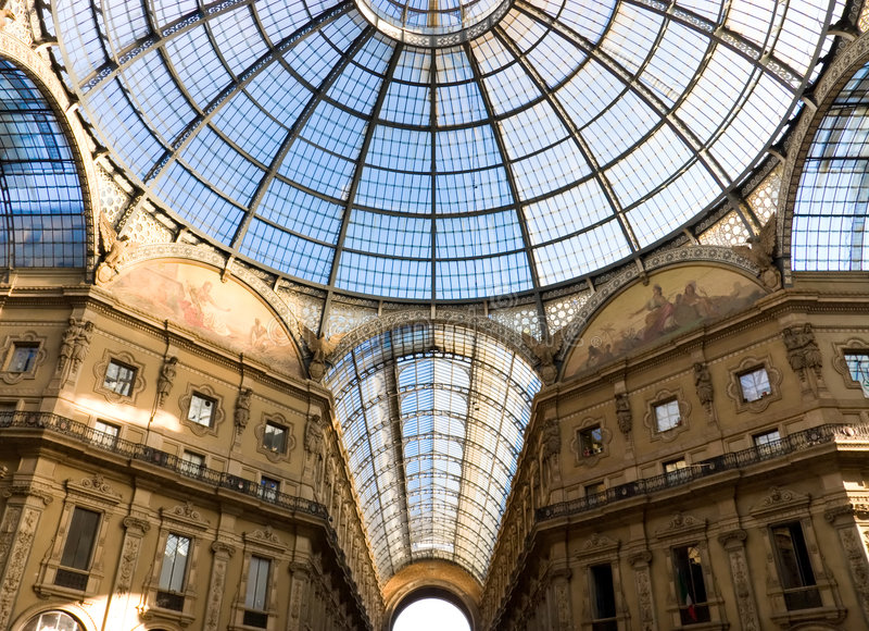 Milan trade center. Popular tourist place royalty free stock photo