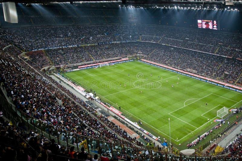MILAN VS INTER arkivfoton