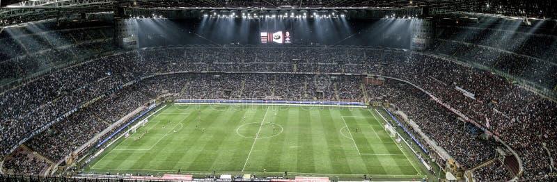 MILAN VS INTER arkivbilder