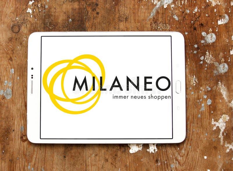 Milaneo centrum handlowego logo fotografia stock