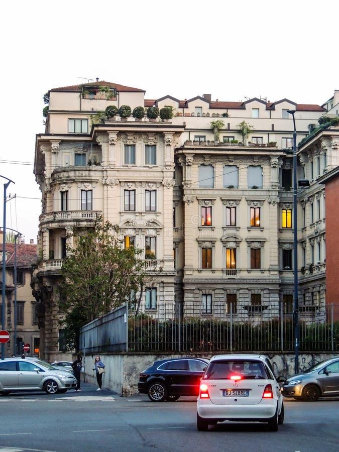 Milanese αρχιτεκτονική στοκ φωτογραφία