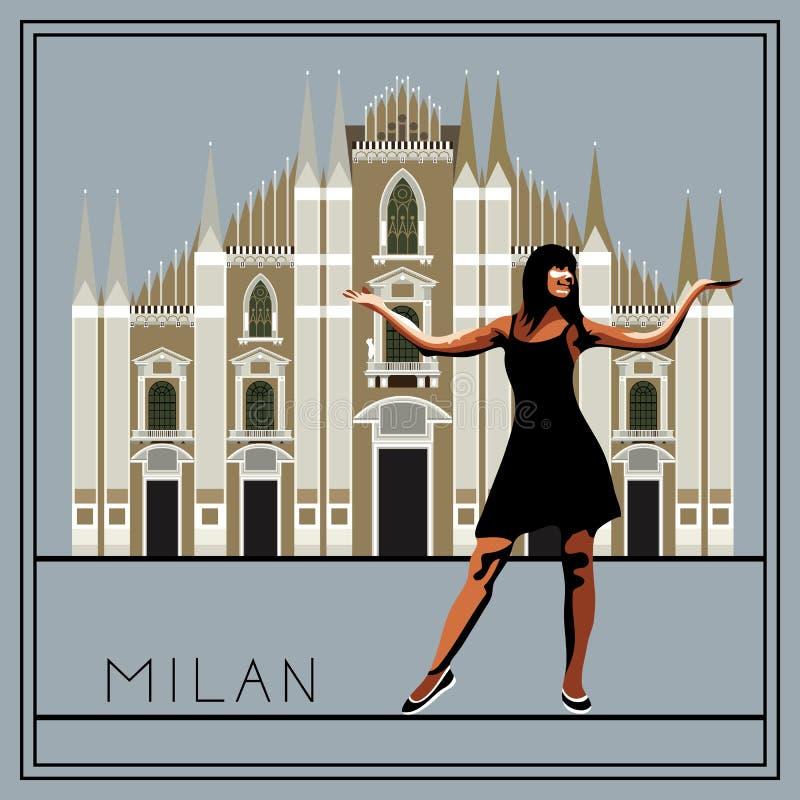 Milano 1 illustrazione vettoriale