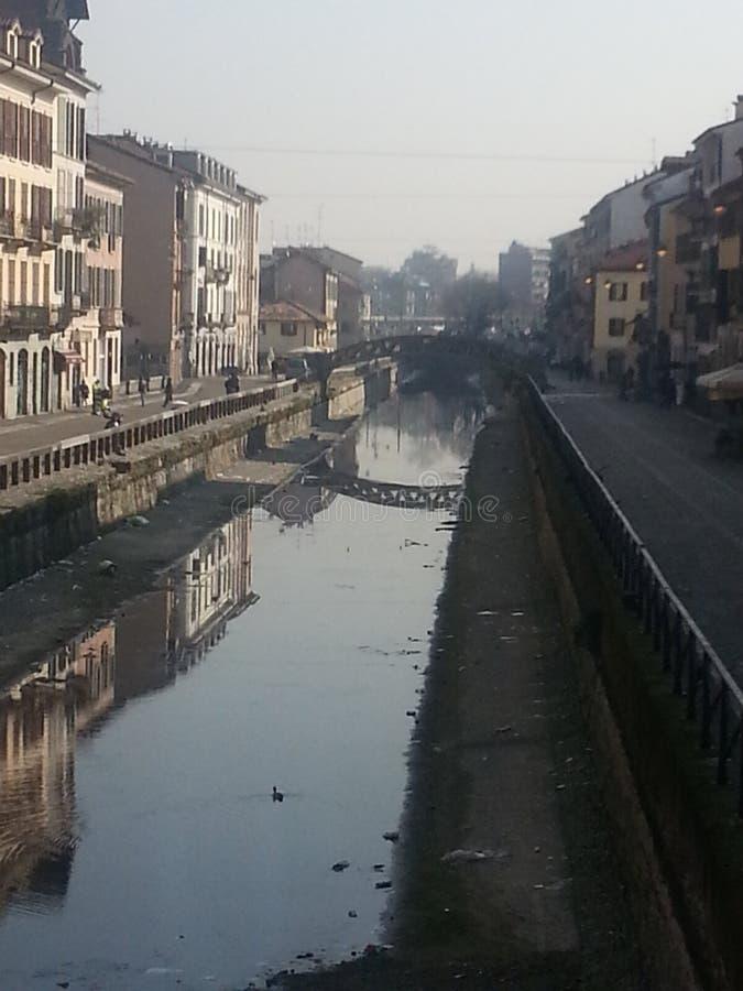 Milano canal street stock photo
