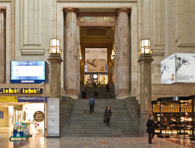 Milano Centrale railway station interior stock photos
