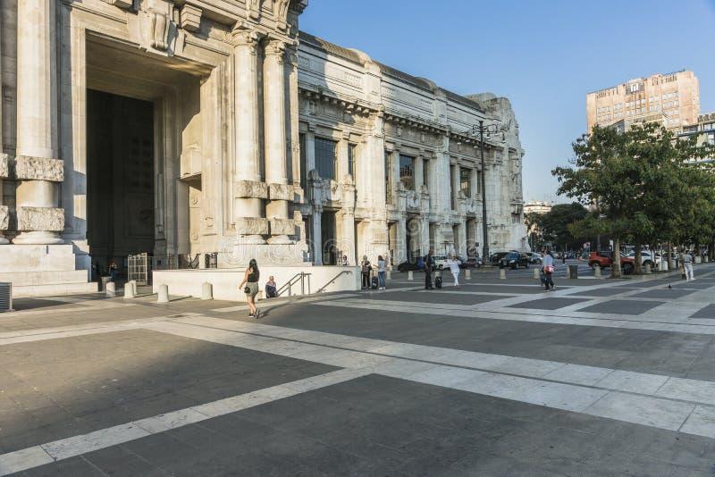 Milano Centrale railway station royalty free stock photo