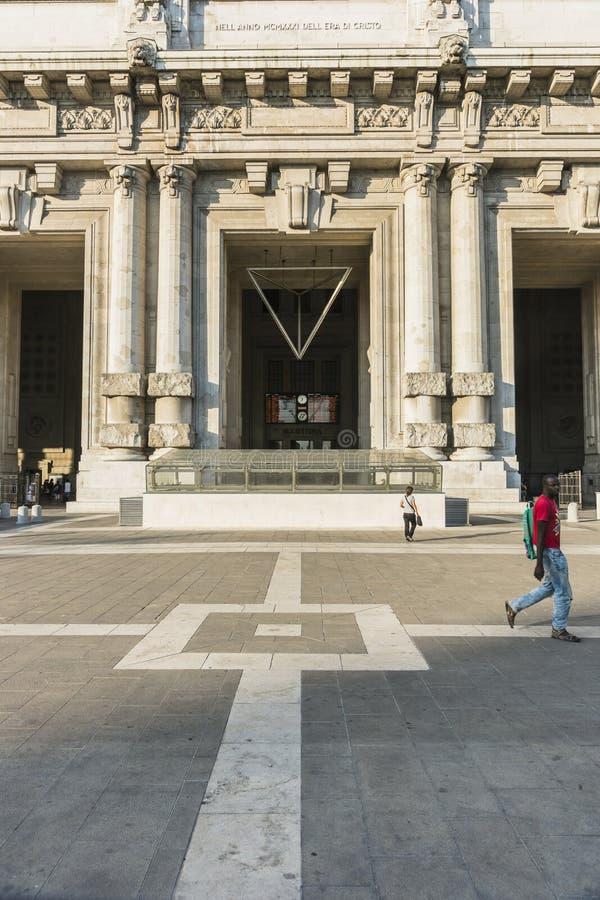 Milano Centrale railway station royalty free stock photos