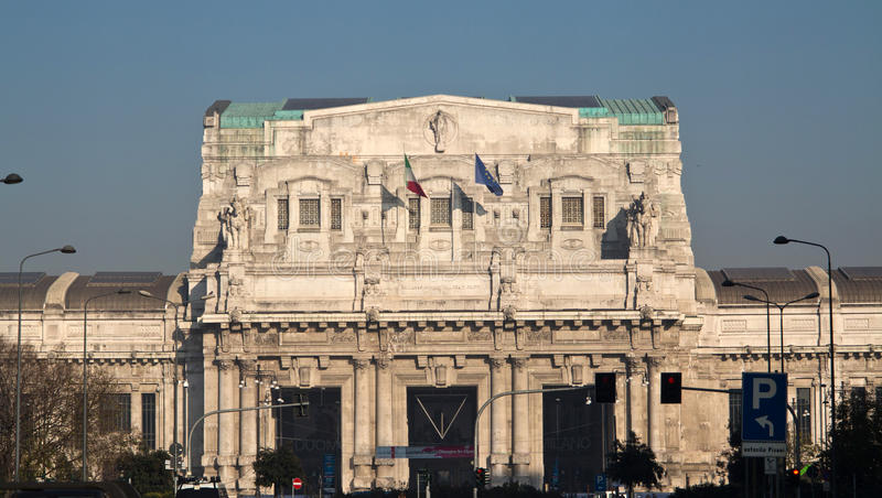 Milano Centrale railway station royalty free stock image